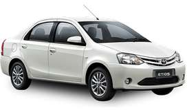 Toyota etios  for SELF DRIVE rent on daily weekly monthly basis...