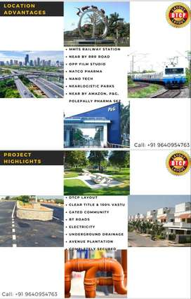 Prime Locations DTCP Approved Open plots for sale at ShadNagar with Be