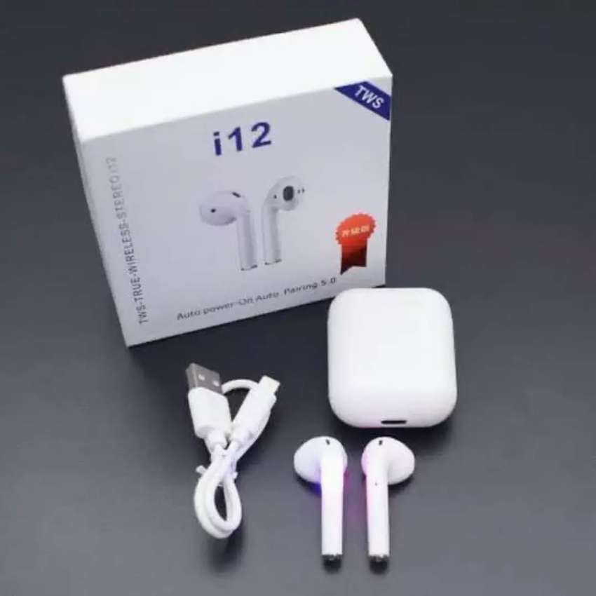 TWIN i12 With CASE Sensors Touch And Window Wireless Earphone V5.0
