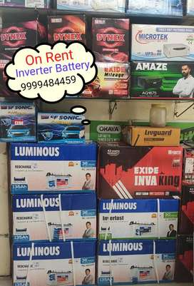 On The Rent Inverter Battery In Gurgaon