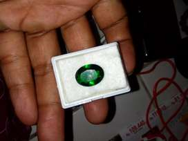 Natural Green Moldavite Oval Bersih