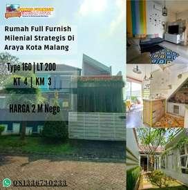 Rumah Milenial nyaman aman full bonus strategis di tengah kota malang