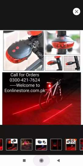 BIKEIN Road Bicycle LED Light 2 Lasers Safety Night Riding Lights MTB