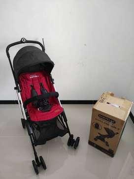 Dijual Stroller BABYELLE Mini Capsule+ Original Warna Red-Black.