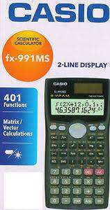 New CASIO fx-991MS Scientific Calculator with three years warranty