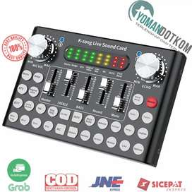 F8 Mixer USB Sound Card Amplifier Live Broadcast Recording Special