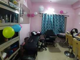 Well furnished Beauty Parlor_Madhapur Main road_Can sell immediately.