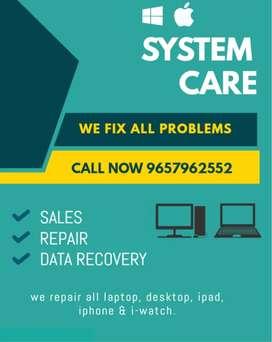 Laptop , desktop repair , rent ,  sale and services