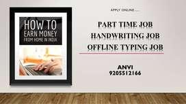OFFLINE TYPING WORK-HANDWRITING JOB-WORK FROM HOME
