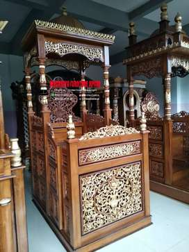 Mimbar masjid kubah terbaru kayu jati