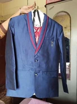 Coat pent in Royal Blue color