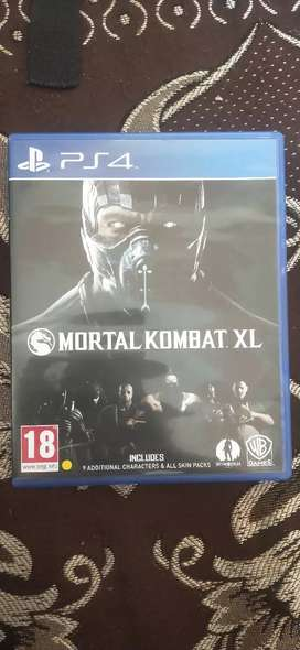 Mortal Kombat XL ps4 Game only 1 day old