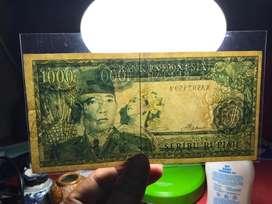 Uang Kuno Soekarno 1000 Rupiah Missprint Watermak Kiri Kanan