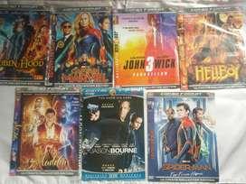 Borong 7 keping kaset CD DVD film kondisi bekas - Gambar blm tajam HD