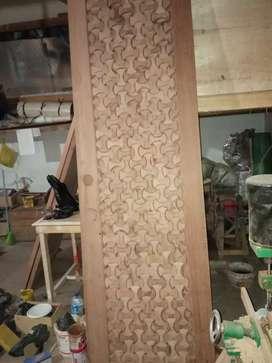 Pintu kayu custom meranti                     4  3