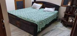 Bed with storage & mattress & pillow