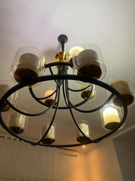 Lampu gantung hias 12 bohlam BARU