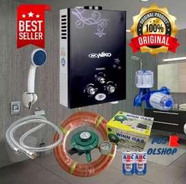 Pemanas Air Shower LPG Komplit sediakan gas