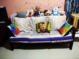 5 year old wooden sofa for sale