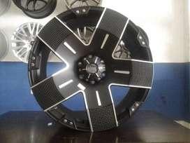 baru pelek mobil EMR racing ring 22x9 H6x139,7 untuk mobil pajero dll
