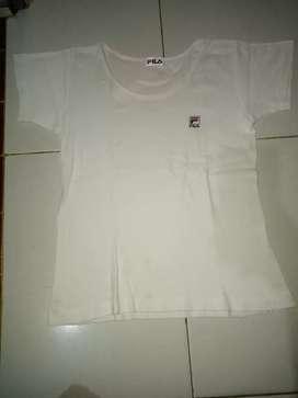 Baju kaos FILA Warna putih