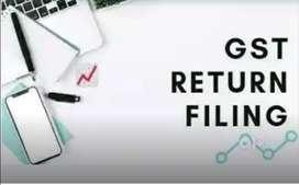 Service providing GST Returns, Tds returns filing, tally entries