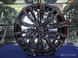 Velg Black Chrome Senorita HSR R18 Xpander Terios Hrv Crv Innova Camry