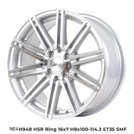 Jual Velg Racing HSR Ne4 Ring 16 Untuk Mobil Nissan March