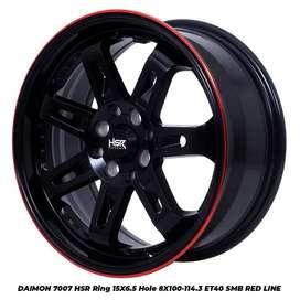 HSR DAIMON R15X65 ET40 Pelek Mobil Racing Untuk Brio Futura