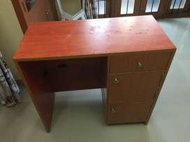 2 wooden Tables  office/study table with 3 storage drawers  for sale