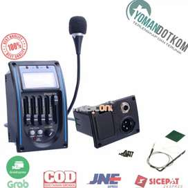 LC-5 Preamp Amplifier Gitar EQ Tuner dengan Microphone