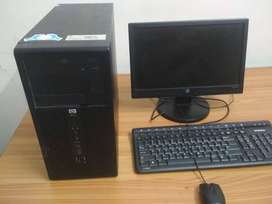 Hp dual core computer with 1year warranty