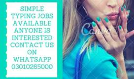 SIMPLE TYPING JOBS AVAILABLE ANYONE IS INTERESRED