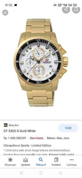 Di jual jam tangan gold besar dan tebal dan berat bersih mulus loh