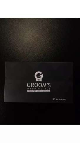 Sales man for GROOMS WEDDING HUB