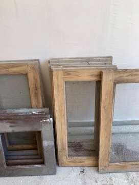 Windows. Teak wood