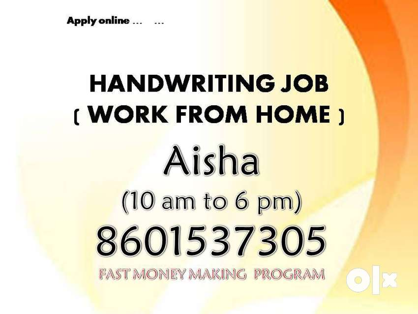 Work from home (Handwriting work) 0