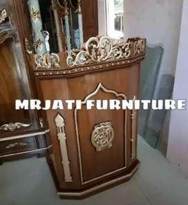 Mimbar masjid> meja ceramah minimalis Mrjati jpr