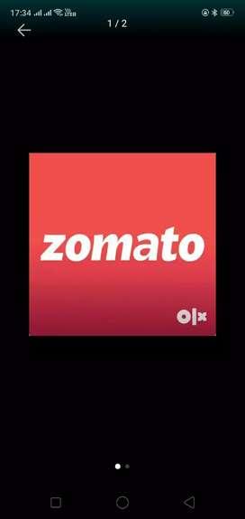 Zomoto food delivery job