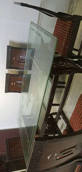 Big Size Dinning Table with Chairs
