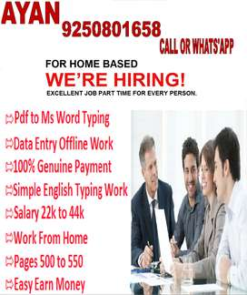 Required Interested Typists Dial Soon To Get Data Entry Projects