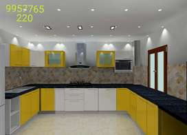 We do complete interior designing from living room to kitchen