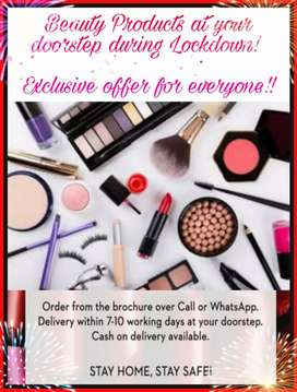 Beauty products available at doorstep
