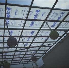 Kanopi atap solarflat rangka hollow galvanis 207