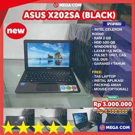 COD BISA, PROMO NETBOOK ASUS X202 SA RAM 2 GB/HDD 500 GB NEW MURAH BER