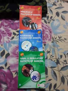 Three books of IIBF examination (JAIIB)