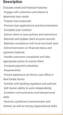 Field executives - loans