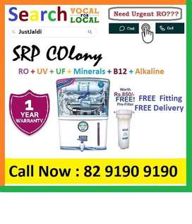 SRP COlony1 AquaGrand RO Water Purifier Water Filter AC dth bed car Aq