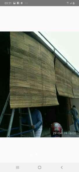Tirai Rotan dan Tirai isi bambu dan Tikar rotan lantai rapih