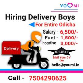 Delivery Boy Required For All Odisha